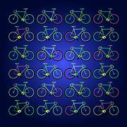 Drawn bikes fix gear Stock Illustration