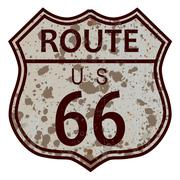 Weathered Route 66 Sign Piirros