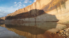 Panning view of Lake Powell Stock Footage