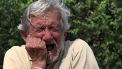 Old Man Crying - stock footage