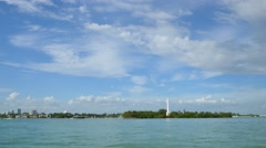 Monument Island Miami Beach - stock footage