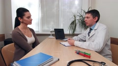 Medical consultation given by Dr. Stock Footage
