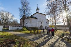 Suzdal, Russia -06.11.2015. The Gate Church of the Annunciation at Suzdal was Stock Photos