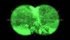 Battlefield Binoculars: World War 2 battlefield re-enactment - stock footage