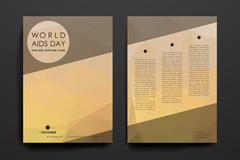 Set of brochure, poster design templates in World AIDS Day style - stock illustration