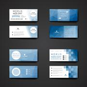 Stock Illustration of Set of modern design banner template in World AIDS Day style
