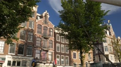 Traditional Houses on Singel, Amsterdam Stock Footage