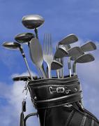 Gourmet Golf Package Stock Photos