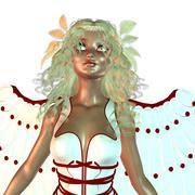 Angel portrait - stock illustration