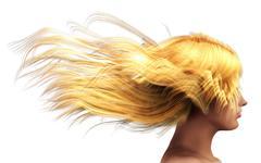 Blond hair Stock Illustration