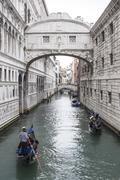 The Bridge of Sighs (Ponte dei Sospiri) in Venice, Italy. Stock Photos
