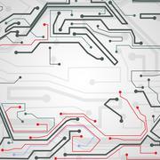 Circuit board background - stock illustration