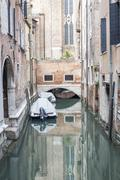 Canal view in Venice (Venezia), Italy. - stock photo