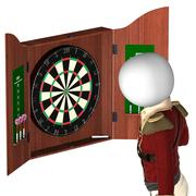 darts player - stock illustration