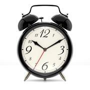 Alarm clock on white background Stock Illustration
