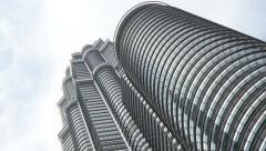 4k skyscraper kuala lumpur petronas towers business centre tall malaysia panning Stock Footage