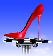 Abstract image of red shoe Stock Illustration