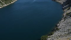 View from Maslenica Bridge of Croatia Stock Footage