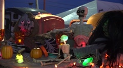 Spooky Halloween Decorations - stock footage