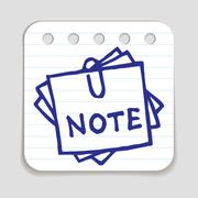Doodle Notepad icon - stock illustration