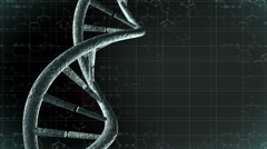 Animation of genetic DNA with science background. Loop-able - stock footage