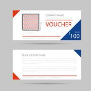 Template business voucher phytolamp - stock illustration