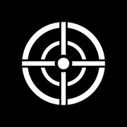 The aim bag icon. Crosshair and target, sight, sniper symbol. Flat - stock illustration