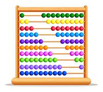 Colorful abacus with wooden frame Stock Illustration