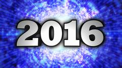 2016, New Year's Eve, Disco Dance Style - stock illustration