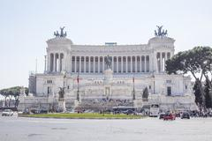 Italy, Rome: View of the monument to Victor Emanuel II Stock Photos