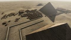 Giza platform Egypt. An animation from above Stock Footage