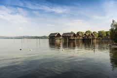 Stock Photo of Stilt houses Unteruhldingen piledwelling museum UNESCO World Heritage Site