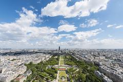 Stock Photo of View from Eiffel Tower Champ de Mars Paris IledeFrance France Europe