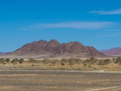 Stock Photo of Mountain ridge in Kulala Wilderness Reserve on the edge of the Namib Desert