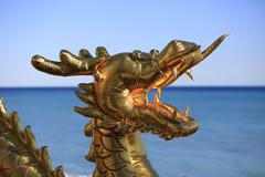 Dragons head Lemon Festival Fete du Citron Menton Alpes Maritimes Cote dAzur Stock Photos