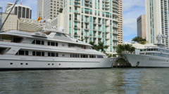 Worlds biggest yachts - stock footage