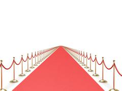 Endless red carpet Stock Illustration