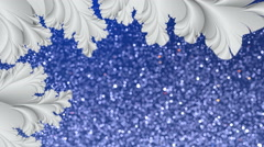 Abstract fractal and snowfall motion background Loop 4K Stock Footage