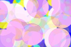 abstract background with soft colorful circles - stock illustration