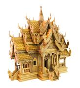Thailand wood toy house - stock photo
