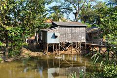 Stock Photo of Slums in Cambodia