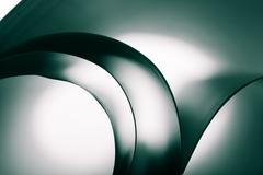 Abstract curves of paper sheets - stock photo