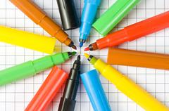 Color markers - stock photo
