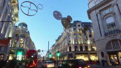 Walking down Regent Street with Bus - stock footage