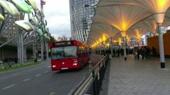 Transport Hub in stratford westfield London Stock Footage