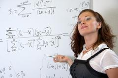 Mathematics teacher - stock photo