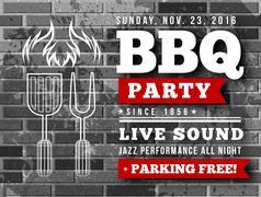 Stock Illustration of BBQ party vector illustration