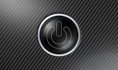 Carbon Fiber Power Button - stock illustration