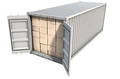 Container With Boxes - stock illustration