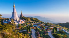 The Great Holy Relics PagodaOf Doi Inthanon National Park Chiang Mai, Thailand - stock footage